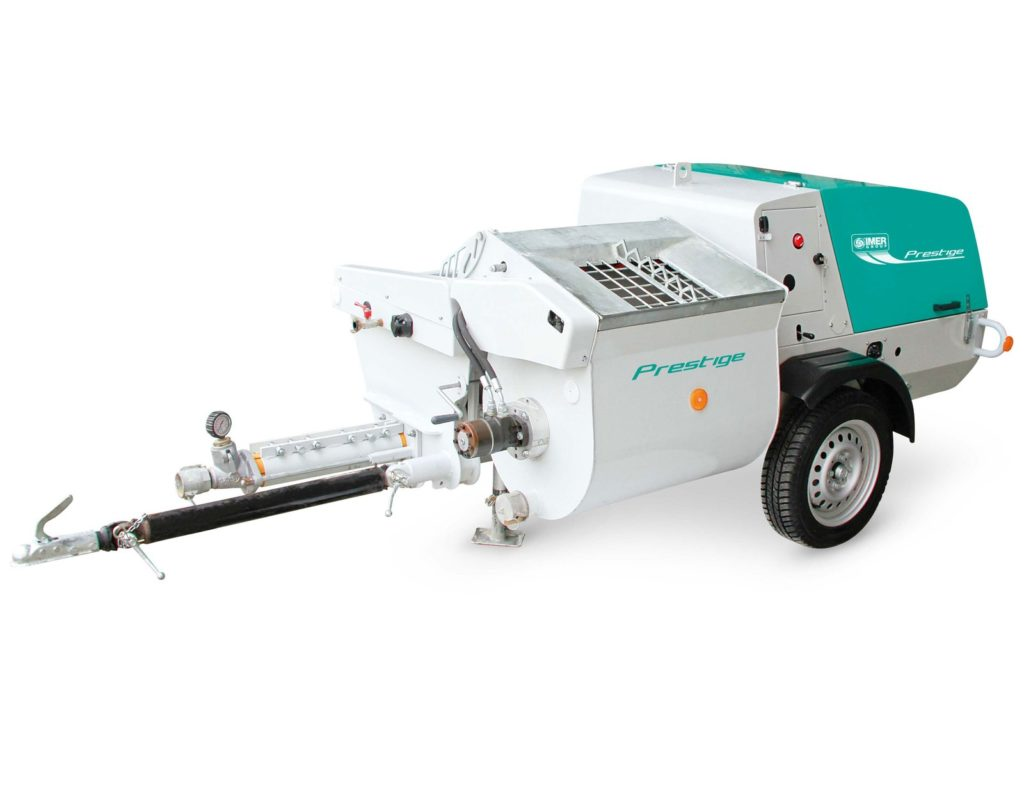 Prestige Towable Diesel Material Pump w/ Mixer & Spray